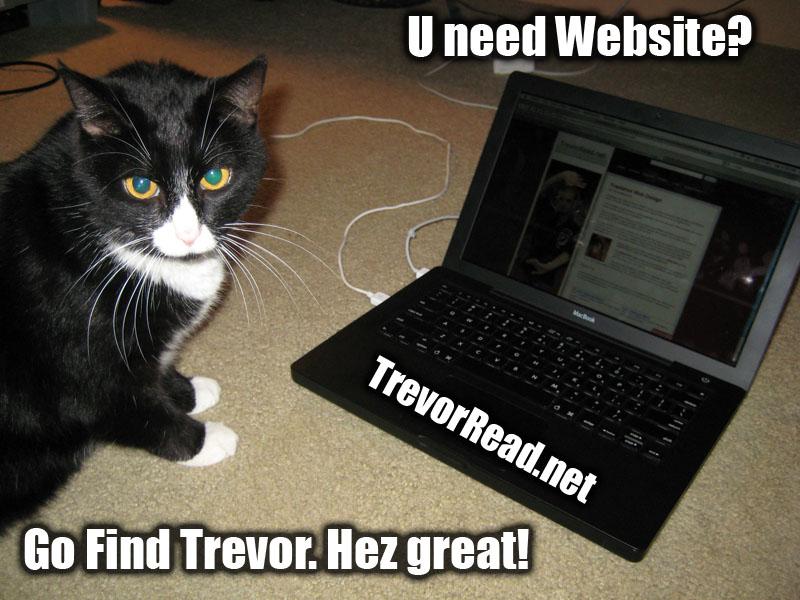 LOL Cat uses Trevor Read for web design